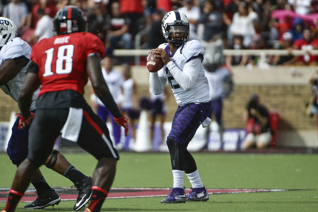 TCU Football at Texas Tech at Jane Justin Field at Jones AT&T Stadium on the TTU campus in Lubbock, Texas on September 26, 2015.  Photos by Michael Clements.